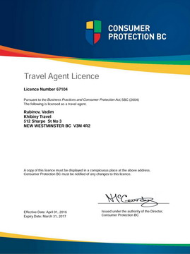 Travel Agent Licence